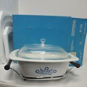 Corning Blue Cornflower P70 Deluxe 4 Qt Dutch Oven Cradle Cover And Roasting Rack