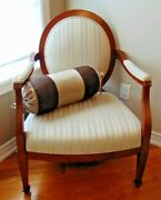 Barbara Barry Accent Chairs Oval Back-designer From Korson Furniture