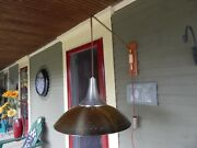 Vintage Mid-century Modern Space Age Pull-down Pendant Lamp W/wall Bracket