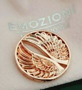 Emozioni Hot Diamonds Rose Gold Plated Guardian Angel Wings 33mm Coin
