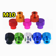 M10andtimes1.5mm Color Aluminum Alloy Raised Step Blind Hole Knurled Hand Screw Nut
