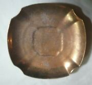 Pa Arzberg Bavaria Etched Gold Encrusted Dish Saucer 5 1/2