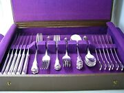 Grand Colonial Wallace Sterling Silver Flatware Set 36ps 6ps Setting 1942 Mono Y