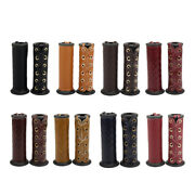 1 Pair Artificial Leather Grip Cover For Hand Grips 7/8- 1 Handlebars