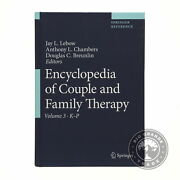 Open Box Encyclopedia Of Couple And Family Therapy 4 Volumes - 1st Edition