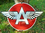 Flying A Porcelain Sign 29 Vintage Advertising Veedol Collectible Usa Gas Oil