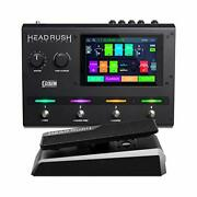 Headrush Gigboard And Expression Pedal Bundle – Electric Guitar And Bass Amp/...