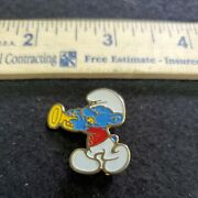 1980 Harmony Smurf Playing The Trumpet Pin Brooch 4-14