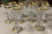 Original Lot Of 10 Baccarat Antique Cut And Polished Crystal Cordials
