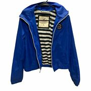 Womans Hollister California Blue Mac With Hood Size M Excellent Condition