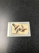 Us Duck Stamp Rw38 1971 3 Cinnamon Teal Gutter Snipe Scarce Mint Never Hinged.