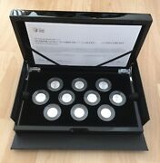 Queen's Beasts 2021 Uk Quarter-ounce 1/4 Oz Silver Proof Complete 10 Coin Set