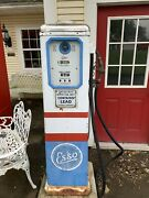 Vintage 1930's To 1940's Esso Gilbarco Gas Pump In New Jersey