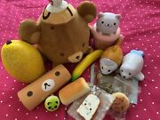 12 Scented Squishy Otter Cat Cup Fish Bear Bread Fruit Food Shaped Lot