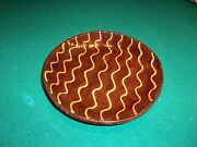 Vintage Jeff White Redware Pottery Dish Bowl Signed 1989 Perfect