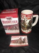 2018 Budweiser Holiday Beer Stein- Rare Complete With Coa