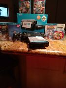 Wii U 32gb Console With Gamepad Original Cables And 8 Games Mario Sonic Batman And