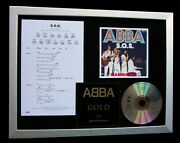 Abba S.o.s. Ltd Gallery Quality Framed Music Cd Display+express Global Ship