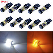 10x 7443 Dual Color 120-smd Led Switchback Turn Signal Light Bulbs White/yellow