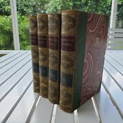The Works Of Oliver Goldsmith Edited By Peter Cunningham 1854 4 Vol Set Leather
