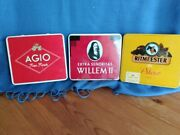 Vintage Cigar Tins - Ritmeester - Agio - Willem Ii - All Three From Holland