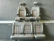 Vw T5 T5.1 T6 T6.1 Heated Front Seats And Combi Set In Black Vinyl And Gti Tartan