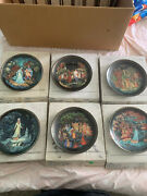 Vintage Russian Legends Collector Plates Set Of 6- 1990's