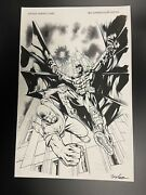 Original Published Comic Art Batman Variant Cover By Edwards And Leisten