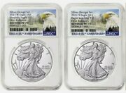 Ngc Pf70 Pr70 First Releases 2021 Reverse Proof Silver Eagle 2 Coin Designer Set