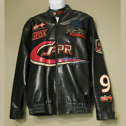 Vintage South Pole International Sports Faux Leather Jacket Racing Patches