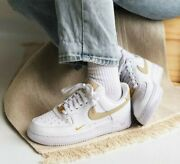 Nike Womenand039s Air Force 1 And03907 Ess Shoes White Rattan Tan Cz0270-105 Multi Size