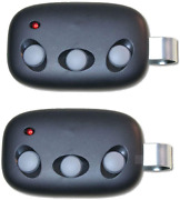 2 Garage Door Remote For Linear Megacode Mct-3 Dnt00089 3 Button