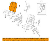 Honda Oem 2011 Insight Front Seat-cushion Cover-top Back Left 04815tm8a00zc