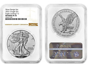 Ngc Pf70 Brown American Eagle 2021 1 Oz Silver Reverse Proof 2 Coin Set Designer