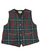 Vintage Ivy Crew Outdoor Classics Wool Vest Mens Xl Christmas Colors Red Plaid
