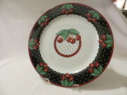 At Home With Mary Engelbreit 14.5 Cherries Cameo Cake Plate 2001 Dishwasher