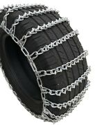 Snow Chains 245/75r-17 245/75-17 Lt V-bar 2-link Tire W/spider Tensioners
