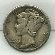 Magic Coin 1920 Mercury Dime Obverse And Wheat Reverse Penny Us Magician Coin.