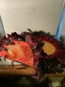 Vintage Studijo Derby Hat Large Beautiful Lots Of Colors And Feathers