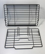 Oem Ronco Showtime Rotisserie Bbq 5000 Small Basket Replacement 2 Pc 1 1/2 Deep