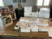 Lot Of 28 Dept 56 Dicken Heritage Village Collection