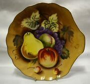 Lefton China Fruit Ne 2013ofr Tea And Toast Snack Plate Hand Painted - Lot Of 3
