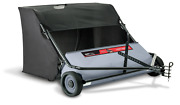 Lawn Sweeper Tractor Tow Behind Hopper Grass Catcher Leaf Bag 42-inch