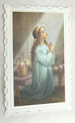 20 Holy Cards Blessed Virgin Mary In Protective Envelopes Vintage Fine Condition