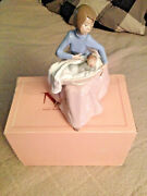Lladro Nao 1214 Figurine Mother With Child Bundle Of Love With Box