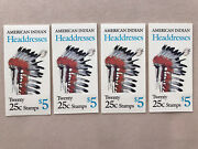 American Indian Headdresses Stamp Booklets Lot Of 4 Mnh Scott 2505a