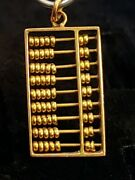Vintage 14k Yellow Gold 🧮 Abacus Charm Moveable 1.7 Grams Marked Mm 14k 585