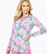 Nwt Lilly Pulitzer Justine Pullover Pink Blossom Try Your Zest Size L
