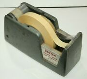 Vintage Scotch M-71 Double Coated Tape Dispenser Heavy Solid Steel Usa Made