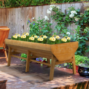 Outsunny Wooden Raised Garden Bed Planter With Non-woven Fabric Large Growing S